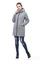 Фисташковая зимняя куртка на молнии, двойная защита от холода, зима 2018 , размеры 46-58