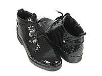 Черные Турецкие ботинки женские