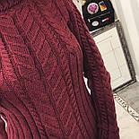 Женская модная вязаная туника под горло в расцветках , фото 3