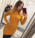 Женская модная вязаная туника под горло в расцветках , фото 4