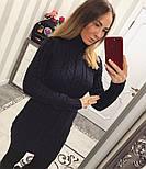 Женская модная вязаная туника под горло в расцветках , фото 7