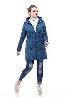 Удлиненная изумрудная зимняя куртка на молнии, двойная защита от холода, зима 2018 , размеры 46-58