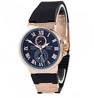 Мужские механические часы Ulysse Nardin Marine Black (Улисс Нардин)