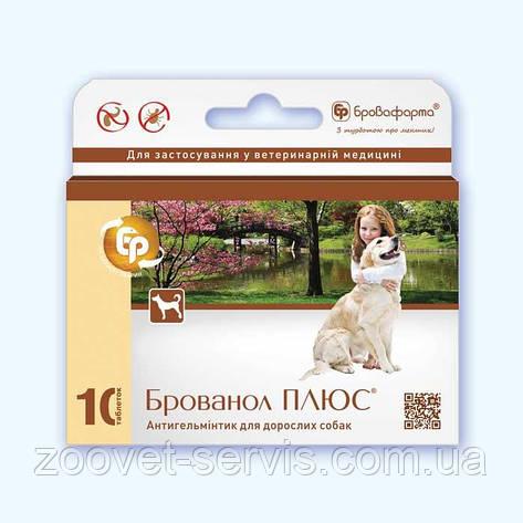 Брованол плюс таблетки для собак о глистов, блох, вшей и клещей, фото 2
