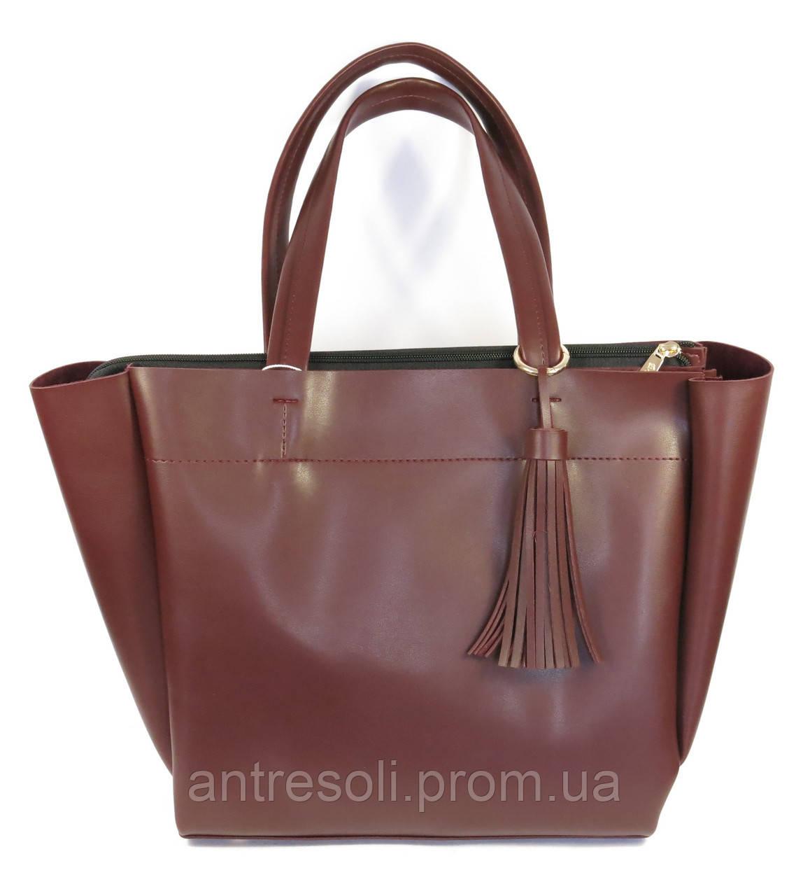 Женская бордовая сумка Одесса