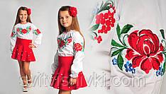 Яскрава вишита блуза для дівчинки з унікальним орнаментом
