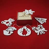 Набір новорічних іграшок «Святковий», 6 шт