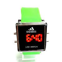 Adidas LED электронные часы Салатовый