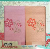 Набор вафельных полотенец для кухни TAG 50*70 - Paris цветы