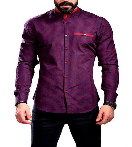 b5cf63c395fa786 Модная мужская Фиолетовая рубашка стильная турецкая - Интернет-магазин  одежды Fashion-Ua в Харькове