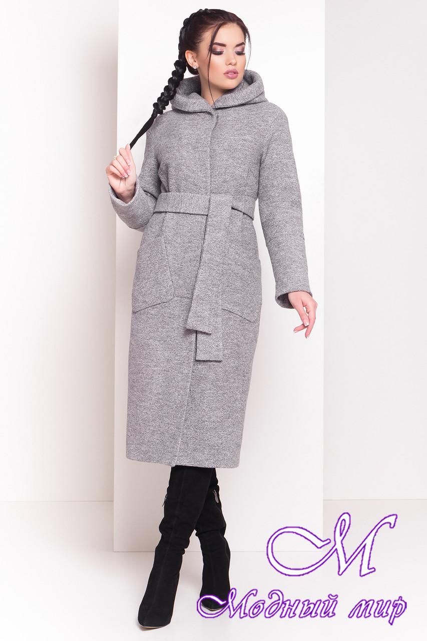 """Теплое длинное зимнее пальто (р. S, М, L) арт. Анита зима """"3703"""" - 19219"""