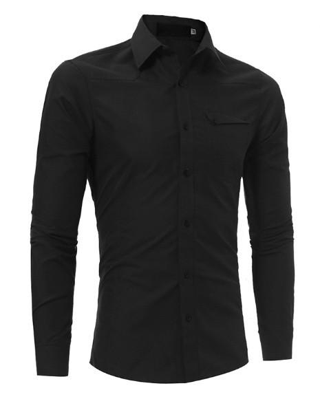 fa91d160226b0c7 Черная мужская рубашка строгая - Интернет-магазин одежды Fashion-Ua в  Харькове