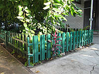 Забор из металлического штакета (евроштакетник)