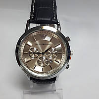 Часы кварцевые мужские в стиле Emporio Armani Silver