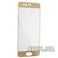 Защитное стеклo для Huawei P10 глянцевое - золотое без фирменной упаковки