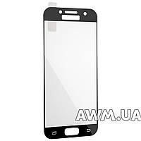 Защитное стеклo для Samsung A3 2017 (A320) глянцевое - черное без фирменной упаковки