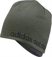 Шапка спортивная adidas climaheat AA2101 (зеленая, с флисом, для тренировок, защита от ветра, логотип адидас)