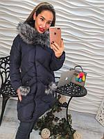 Женское стильное пальто на синтепоне с капюшоном, 3 цвета р-р 42, 44, 46, 48