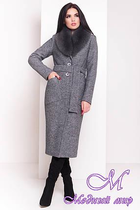 """Женское длинное зимнее пальто с красивым мехом (р. S, М, L) арт. Габриэлла """"3717"""" - 19294, фото 2"""