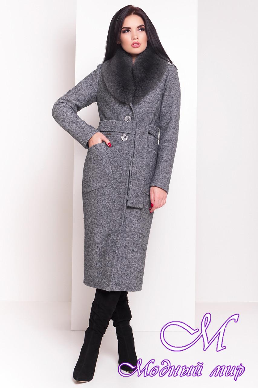 a32a8d86b8e26 Женское длинное зимнее пальто с красивым мехом (р. S, М, L) арт. Габриэлла