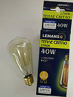 "Лампа Эдисона Lemanso ""колба"" 40W 2700K"