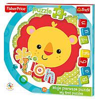 """Пазлы для малышей «Baby Fun"""" -Lion cub / Mattel Fisher Price» 36120 Trefl"""
