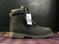 Женские ботинки Timberland Dark Brown на меху