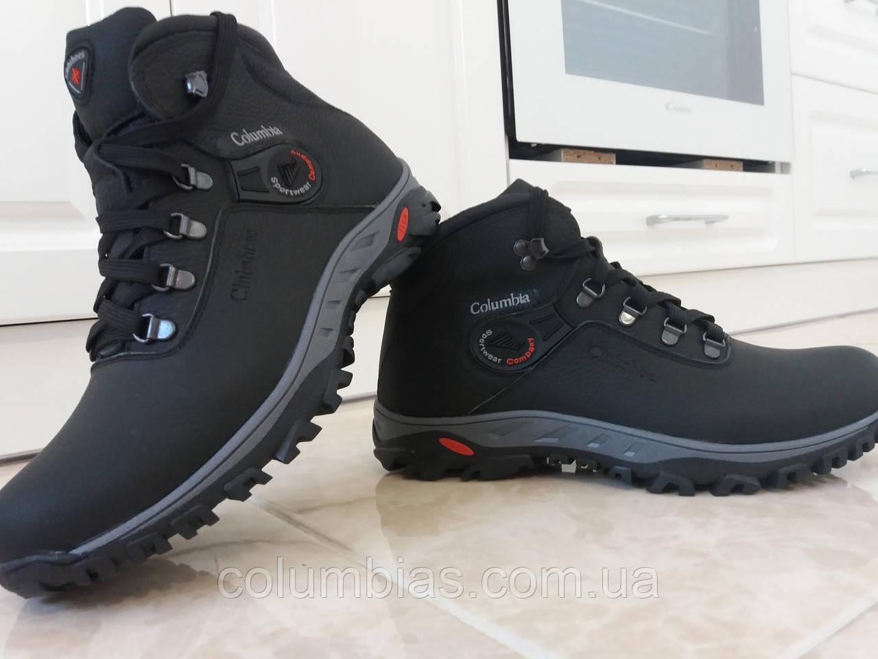 Columbia зимняя кожаная мужская обувь