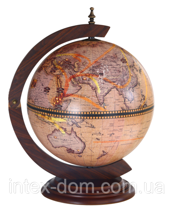 Глобус бар 33002 N  настольный 360мм- Зодиак