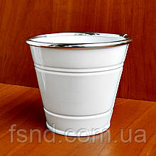Ведерко-кашпо металл (без ручек) 11х11 см