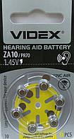 Батарейка воздушно цинковая Videx ZA10 (PR70)