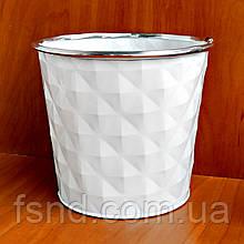 Ведерко-кашпо #67053-S металл (без ручек) 11х13 см