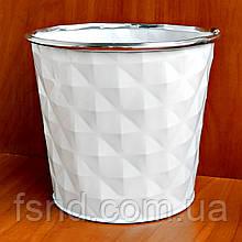 Ведерко-кашпо #67053-M металл (без ручек) 15х16 см