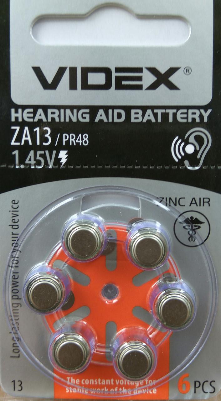 Батарейка воздушно цинковая Videx ZA13 (PR48)
