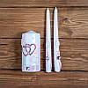"""Свадебные свечи """"Семейный очаг"""" в розовых тонах (арт. WC-003)"""