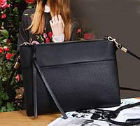 Женская сумочка через плечо черного цвета, Жіноча сумочка, фото 1