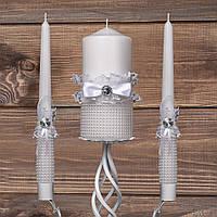 Набор свадебных свечей с декором (арт. WC-101)