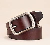 Ремень мужской кожаный классический LFMB модель 1 (коричневый)