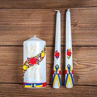 Свадебные свечи в украинском стиле (арт. WC-203)