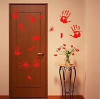 Наклейки Пятна крови - декорации для Хэллоуина
