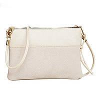 Женская сумочка через плечо кремового цвета