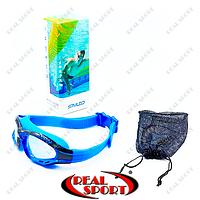 Очки для плавания (полумаска), беруши для плавания с застежкой