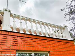 Балюстрада белая в с. Гатное | Балясины бетонные в Киевской области 2