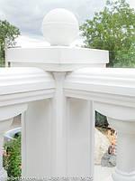 Балюстрада белая в с. Гатное | Балясины бетонные в Киевской области 4