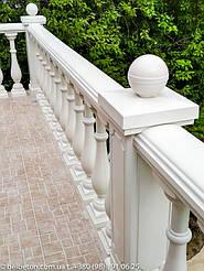 Балюстрада белая в с. Гатное | Балясины бетонные в Киевской области 13