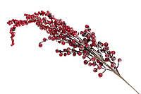 """Новогоднее украшение """"Ветка Морозная Ягода"""" 75 см, декор на Новый год"""
