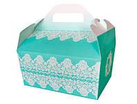 Коробочка для каравая и сладостей в бирюзовых тонах (арт. KS-24)