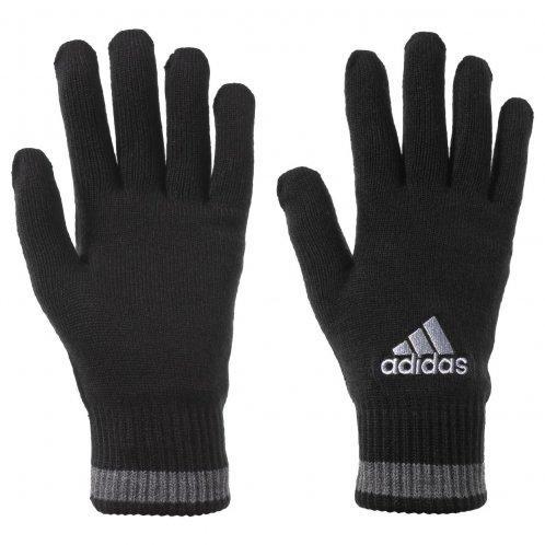 Перчатки спортивные adidas KN gloves AB0421 (черные, теплые, акрил, флис внутри, повседневные, логотип адидас)