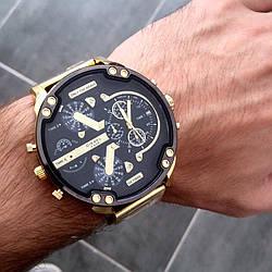 Металлические мужские часы Diesel Brave Gold, чоловічий металевий годинник Дизель