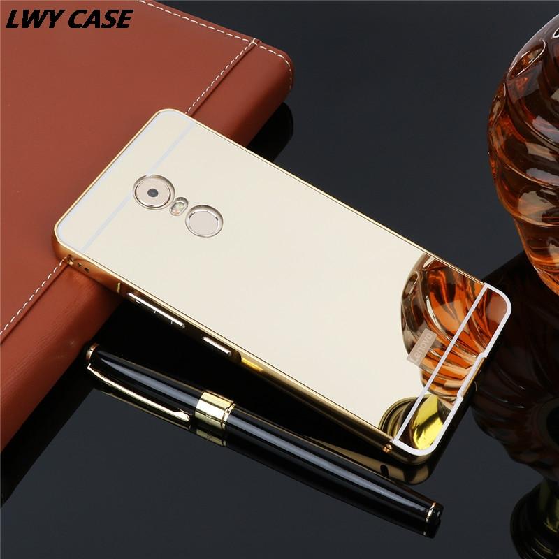Чехол для Lenovo K6 Note зеркальный золотистый